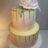 Gold drip shower cake