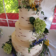 birch buttercream wedding cake