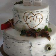 Rustic Muskoka wedding cake