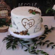 Birchbark cutting cake