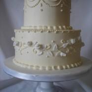 mini buttercream wedding cake