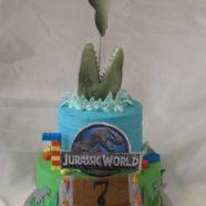 Jurassic World & Lego cake