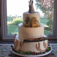 Cottage country wedding cake