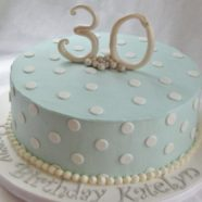 30th birthday cake in Muskoka