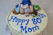 Avid reader 80th cake