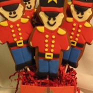 Toy soldier cookie pops