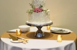 Muskoka winter wedding cake