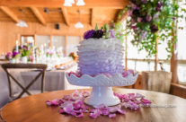 Lilac Ombre Ruffle cake