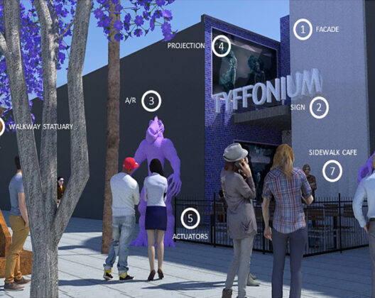 Location-based entertainment technology used in placemaking