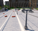 Artificial downhill ski slope