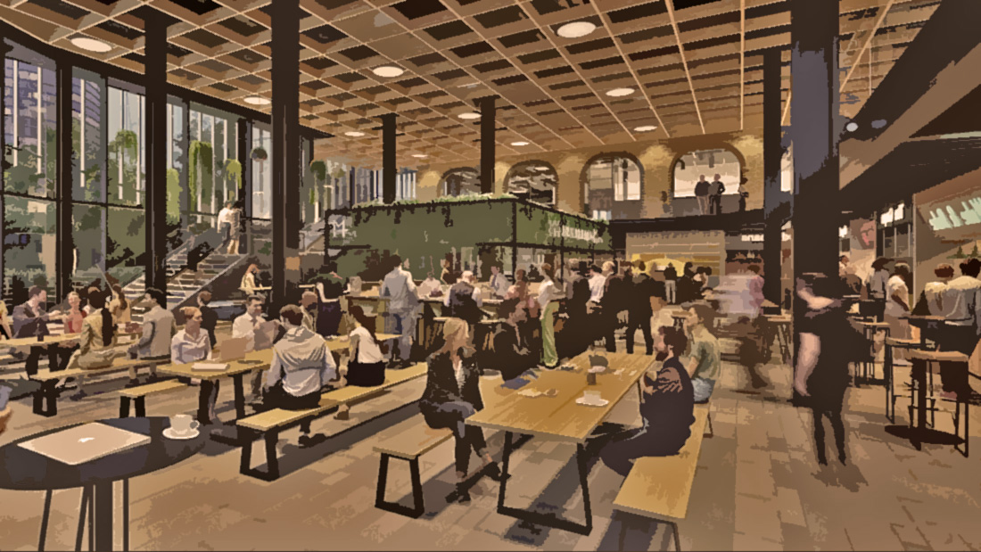 The Primacy of Food Hall Gathering Places