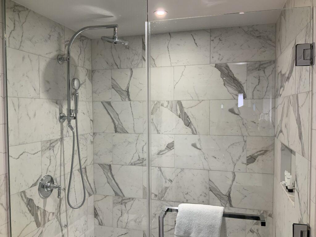 Marble Walk-In Shower