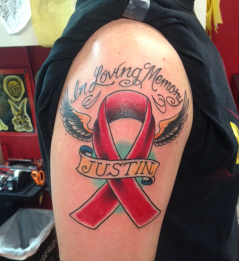 Justin Wolfe's Brother Memorial Tattoo