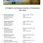 Our Calendar of Presentations
