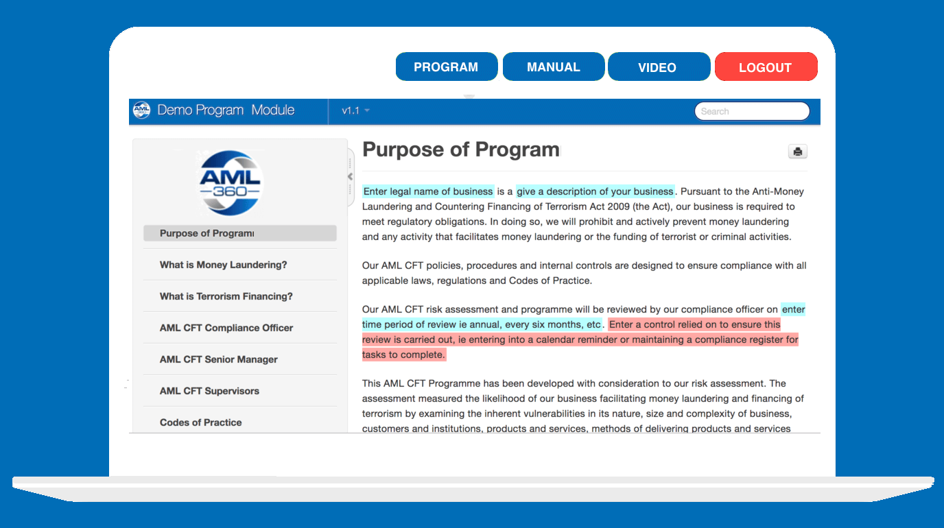 AML Policy Template