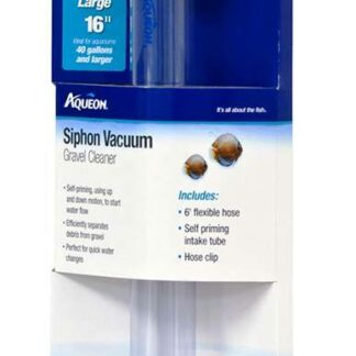 Aqueon Siphon Vacuum Gravel Cleaner - 16 Inch Large