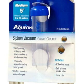 Aqueon Siphon Vacuum Gravel Cleaner - 5 Inch Medium