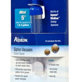 Aqueon Siphon Vacuum Gravel Cleaner - 5 Inch Mini