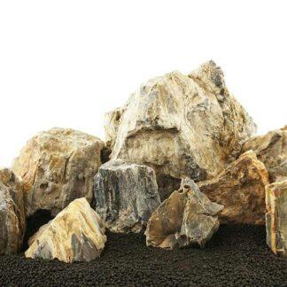 Canyon Petrified Stone Mixed Freshwater Rocks - Medium Set - Lifegard Aquatics