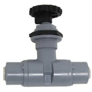 JG 1/4 inch x 1/4 inch PVC Needle Valve for Calcium Reactors