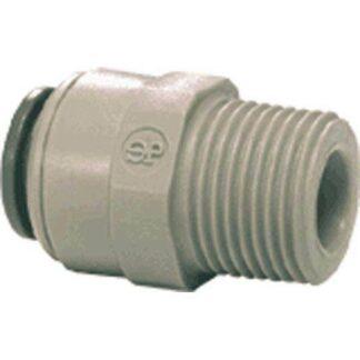 JG 1/4 inch x 3/8in NPTF Male Adaptor - Gray