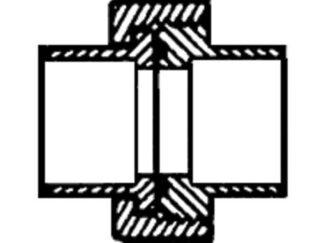 Union Fitting - 1-1/2 inch Slip x 1-1/2 inch Slip