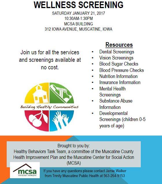 health screening flyer half