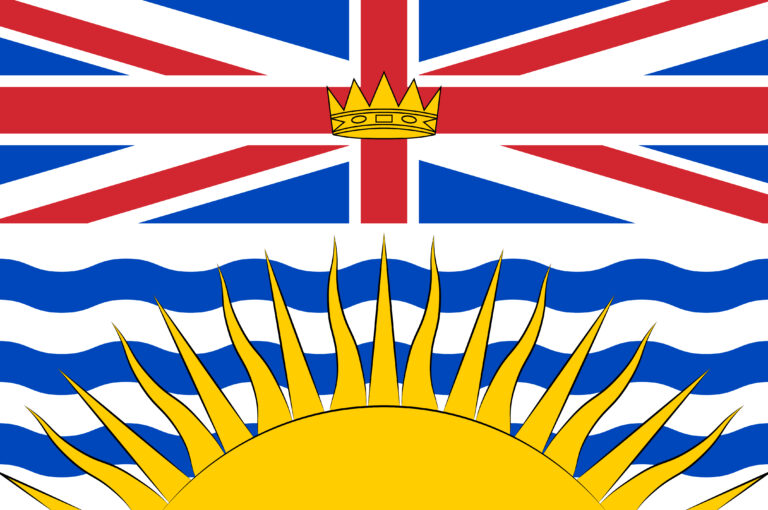 Flag of British Columbia in Canada