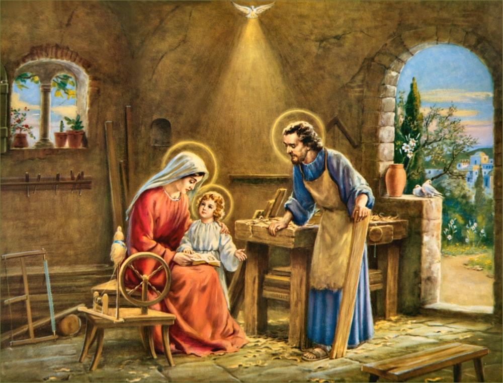 Holy Family Slider - Sit Stand Kneel