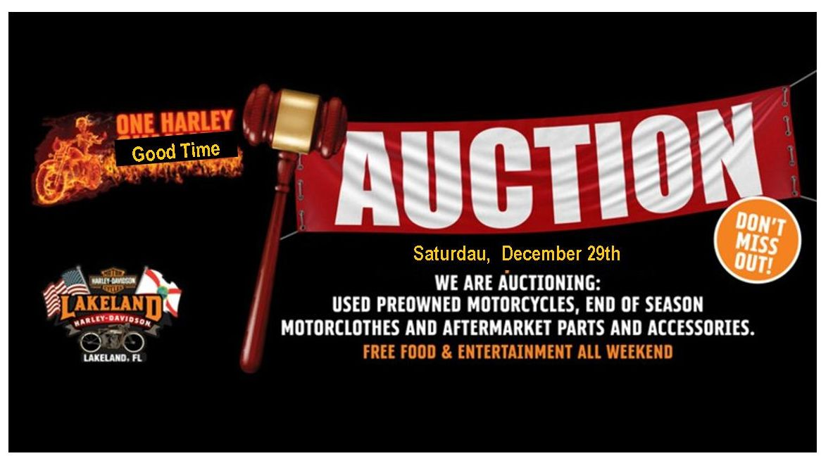 Lakeland Harley Davidson Auction Event