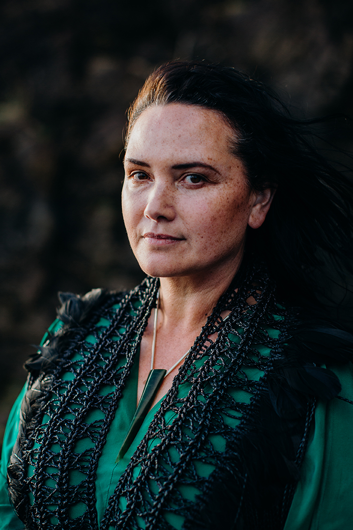 Kiri Nathan, Kiri Nathan Fashion, Kiri Nathan Pounamu, Aotearoa, NZ Made, NZ Fashion, Fashion Designer, pounamu, weaving, korowai, raranga, Qiane, Qiane Matat-Sipu, NUKU, NUKU100, indigenous woman, indigenous design, indigenous fashion, air nz, air new zealand
