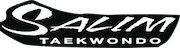 Salim's Taekwondo Center white logo