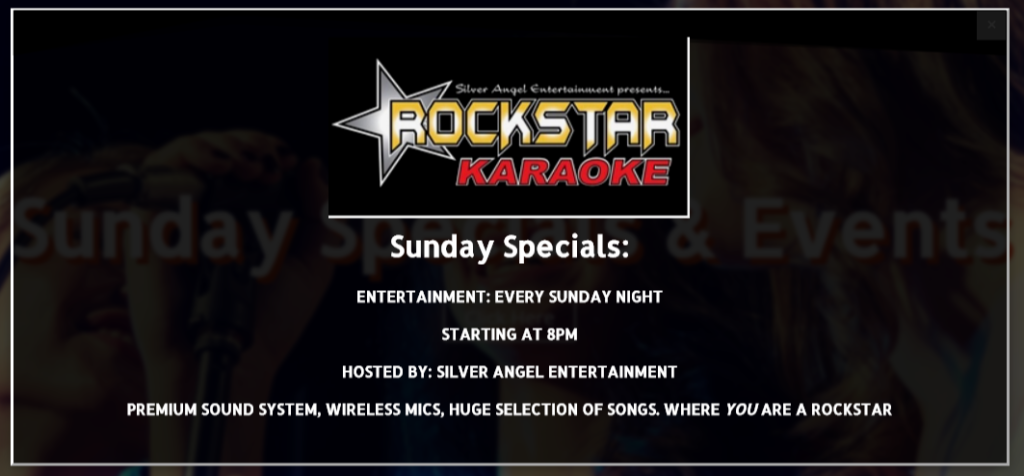 Sunday Specials and Events