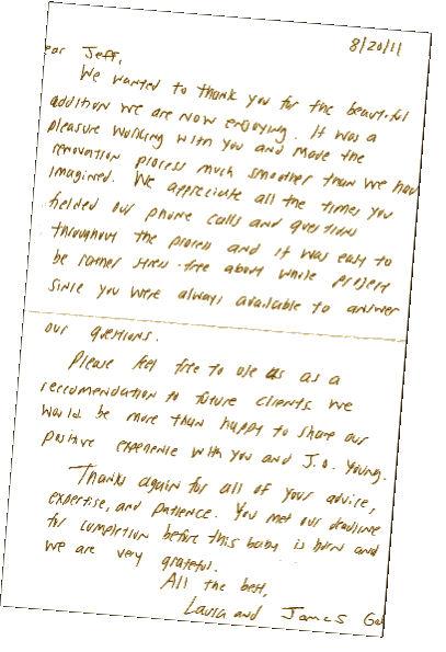 longmeadow home addition-testimonial