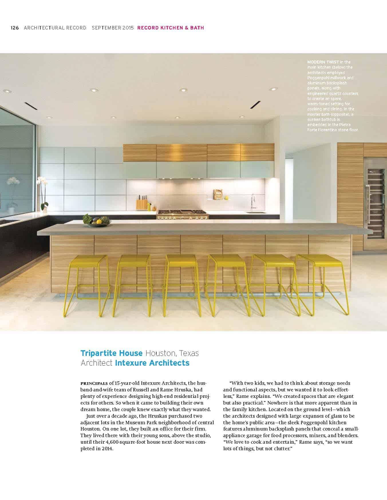 architecture record intexure tripartite kitchen