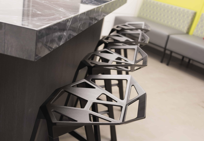 Coffee Bar seating and island