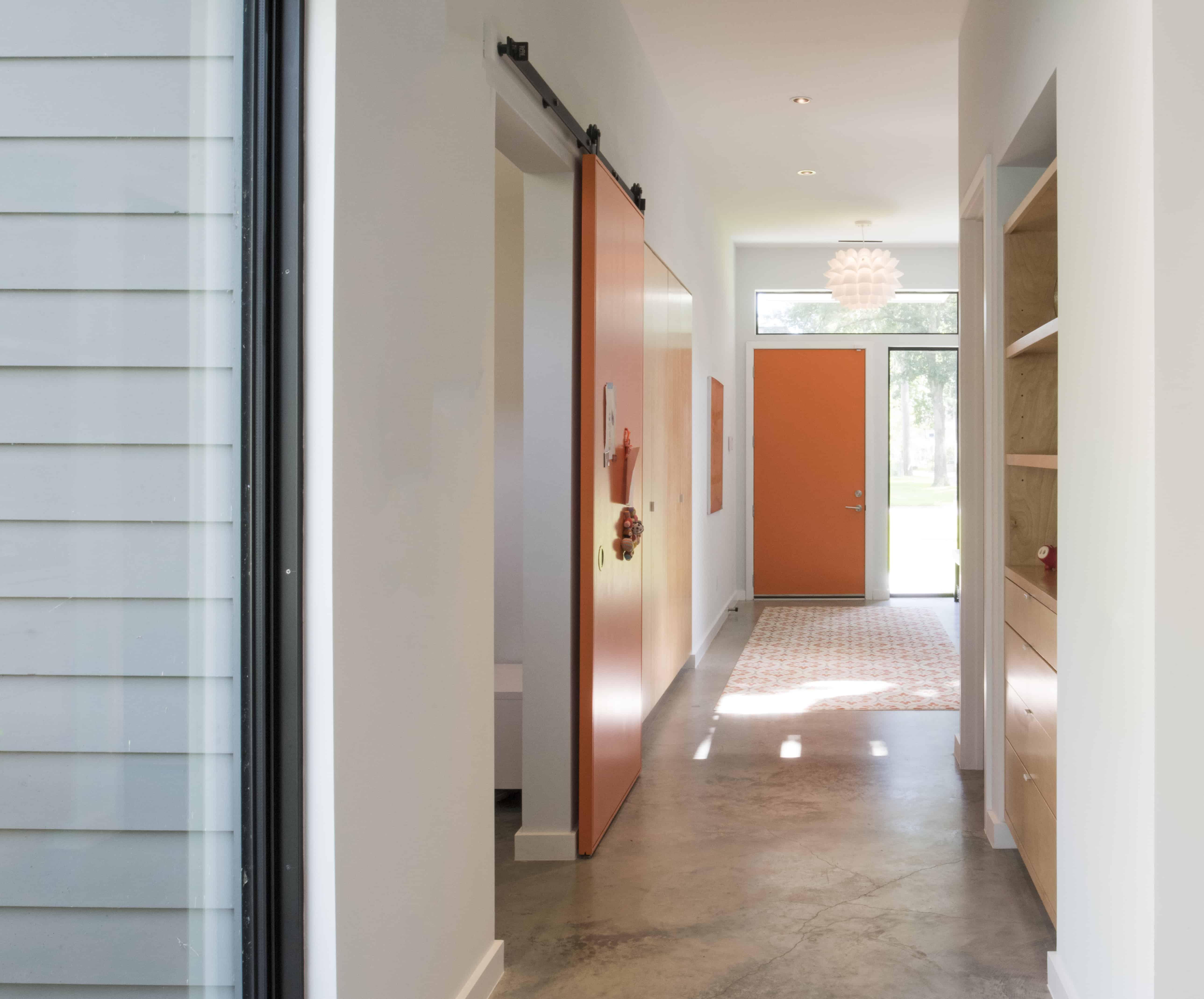 Garden Oaks Modern Home with orange accents
