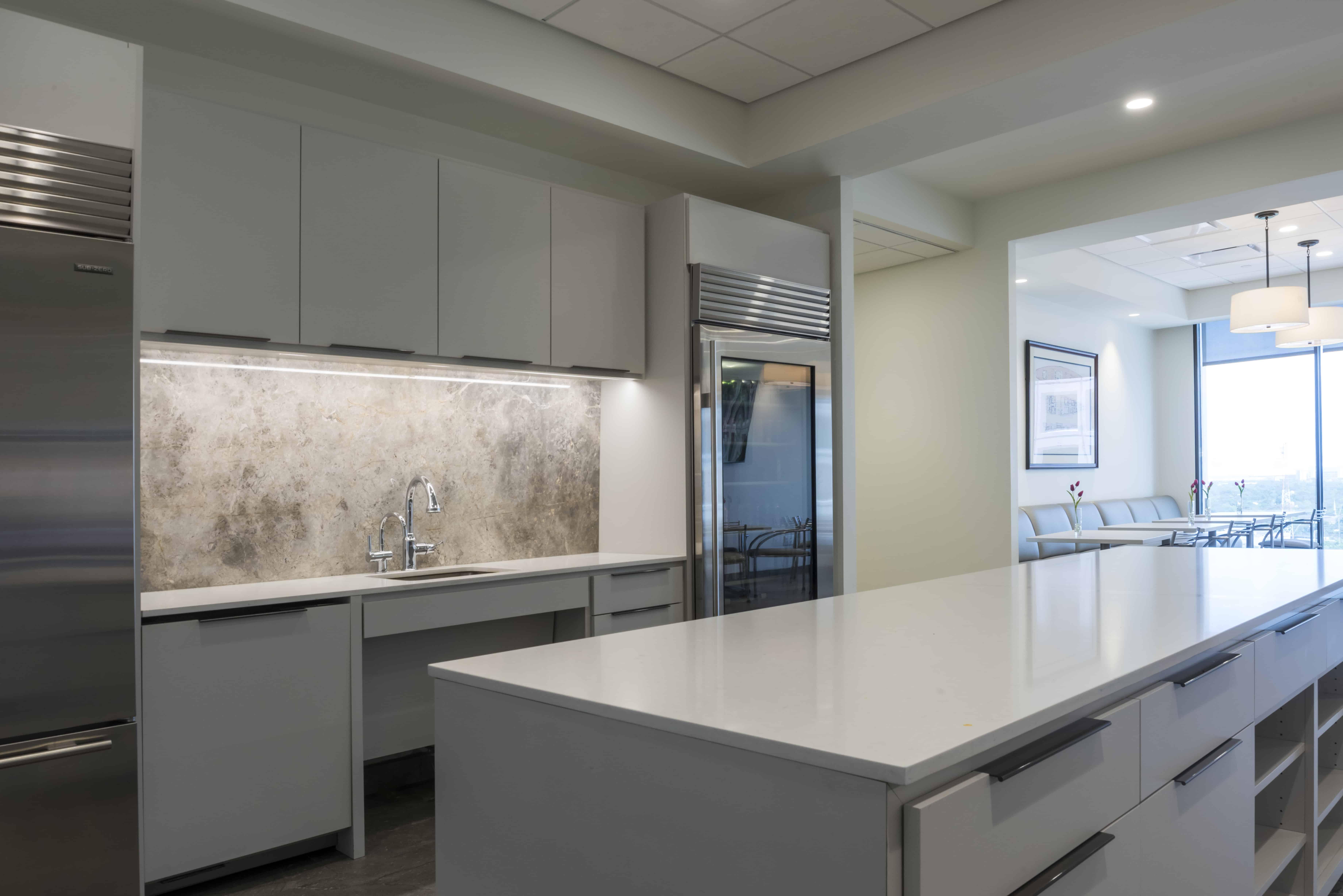 Modern office break area