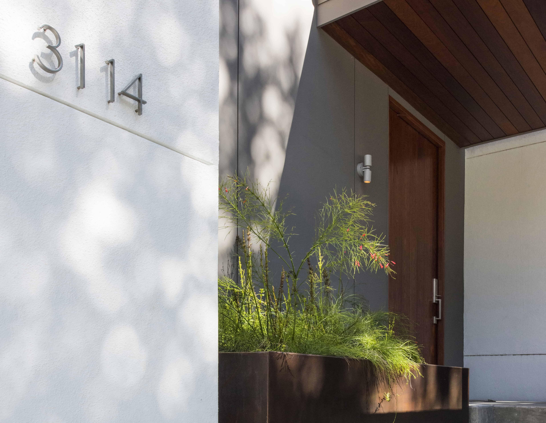 modern planter exterior detail