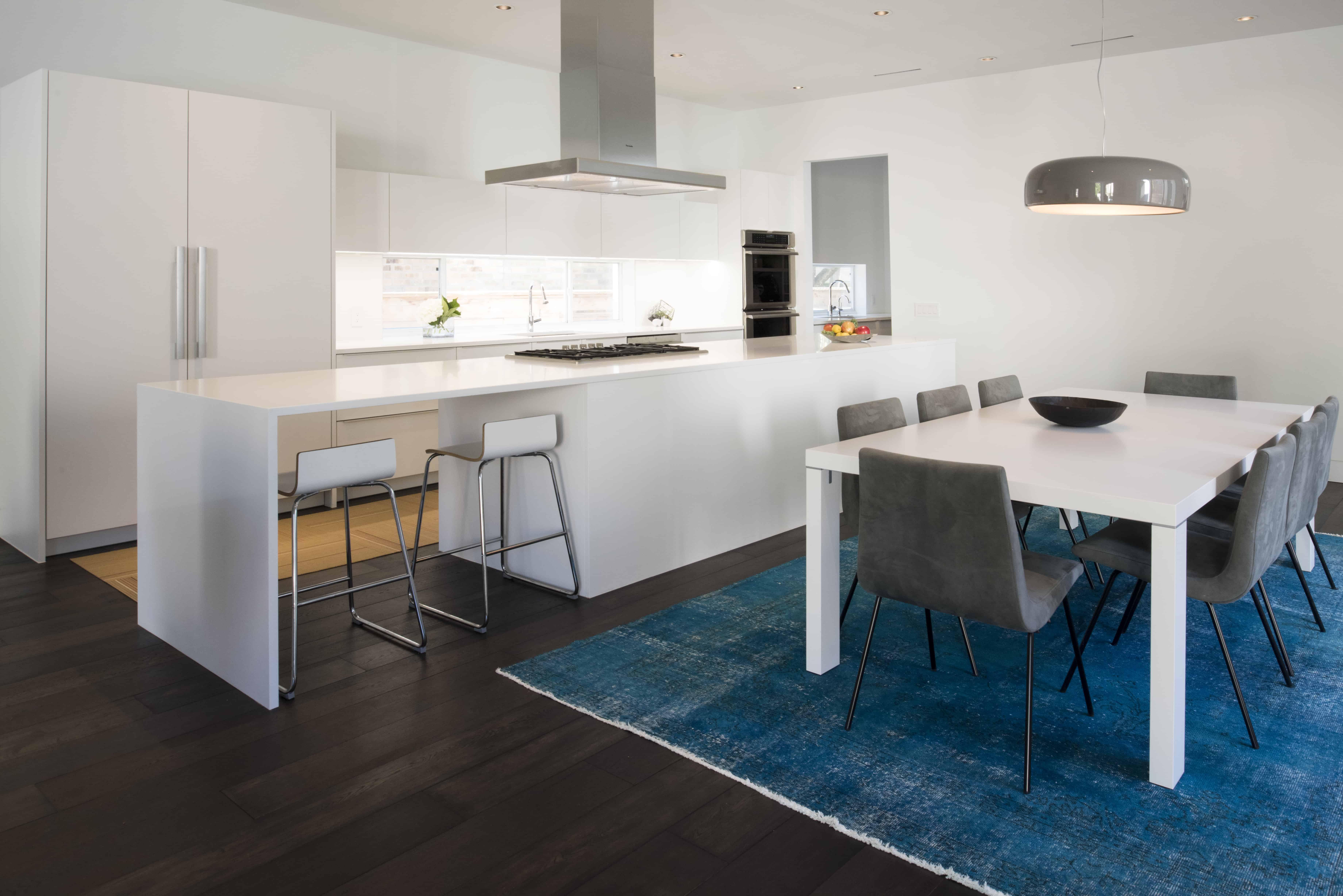 Houston Modern Home Glen Haven Braeswood white kitchen
