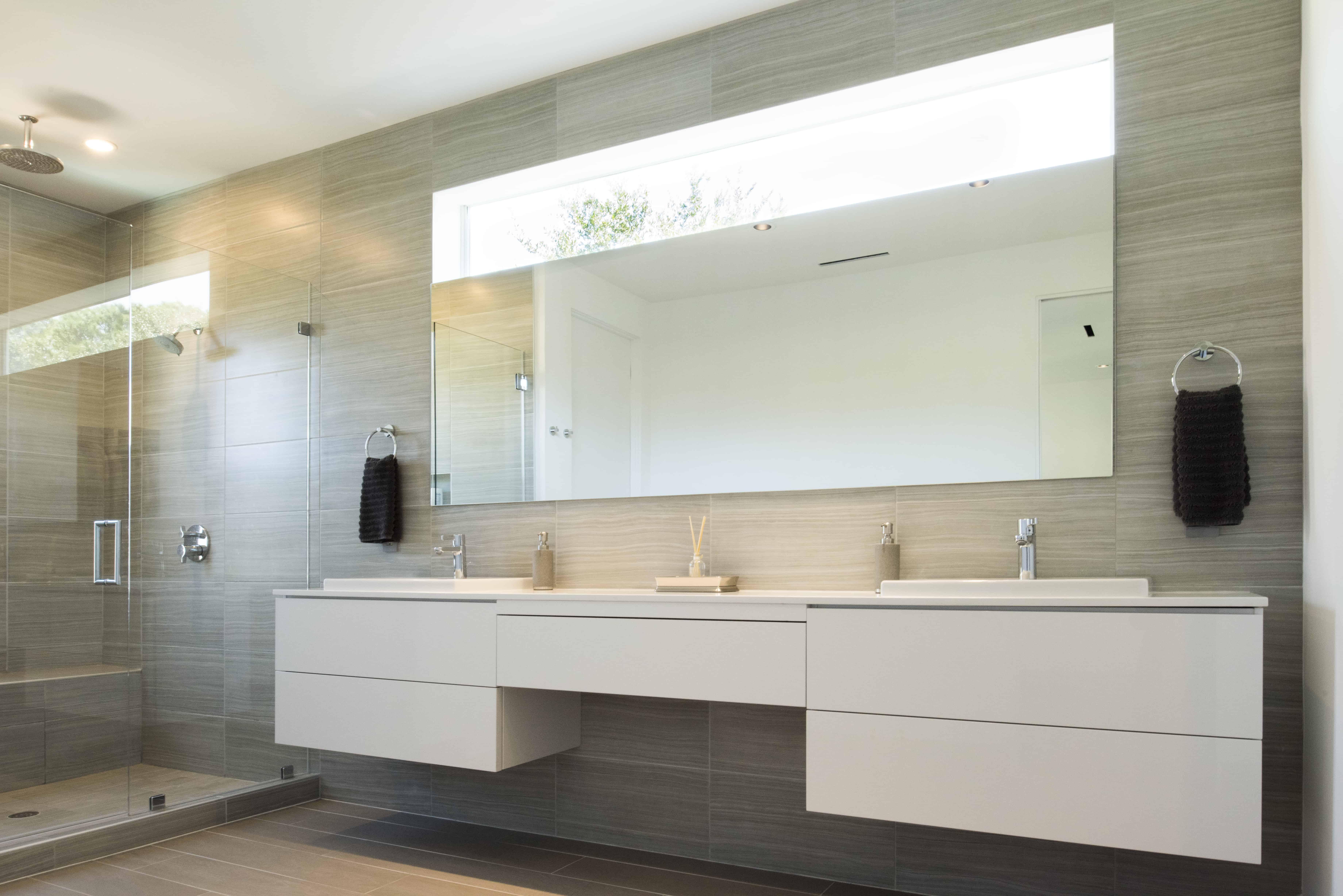 modern home braeswood master bath
