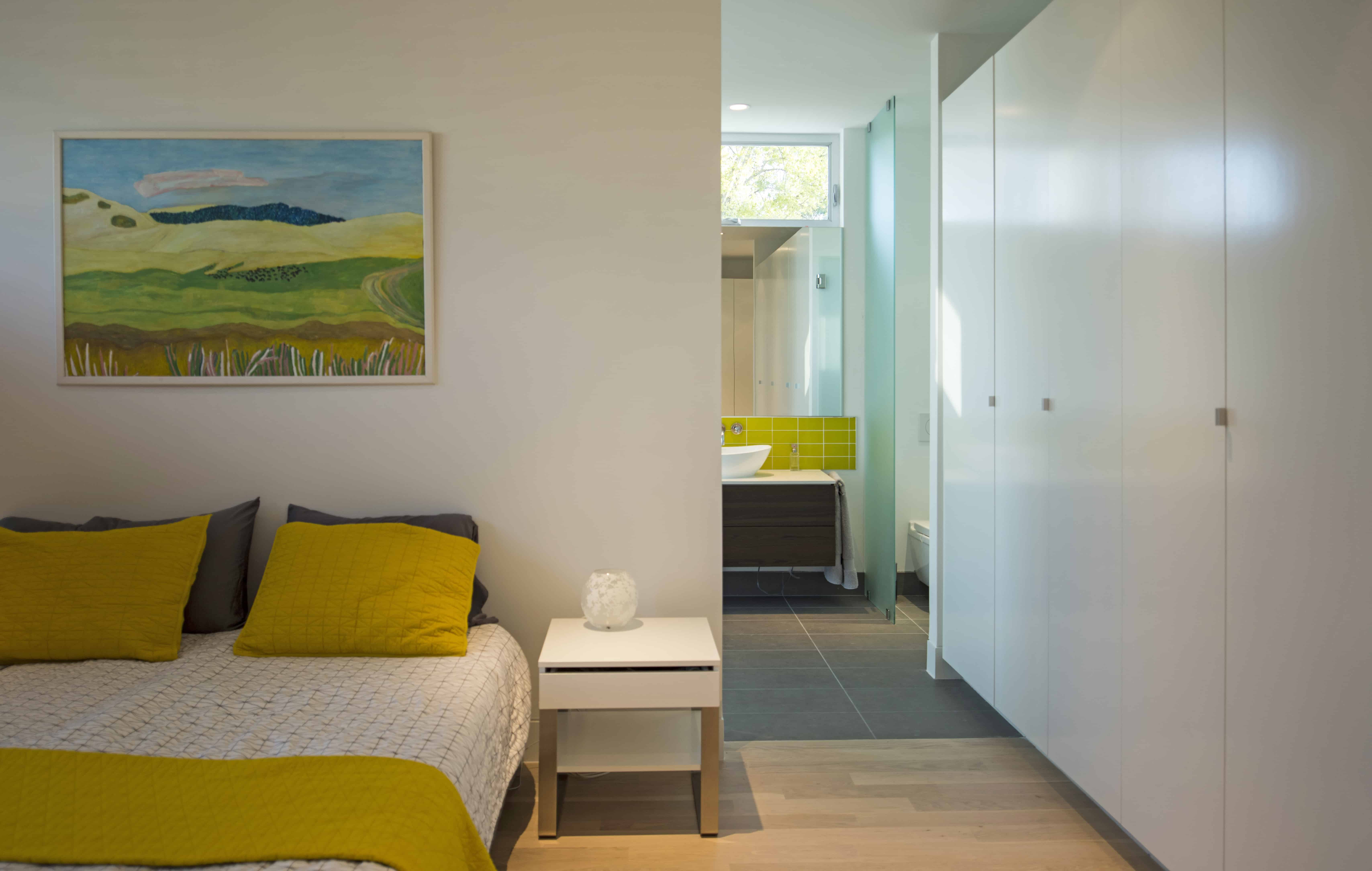 Modern home master bedroom yellow