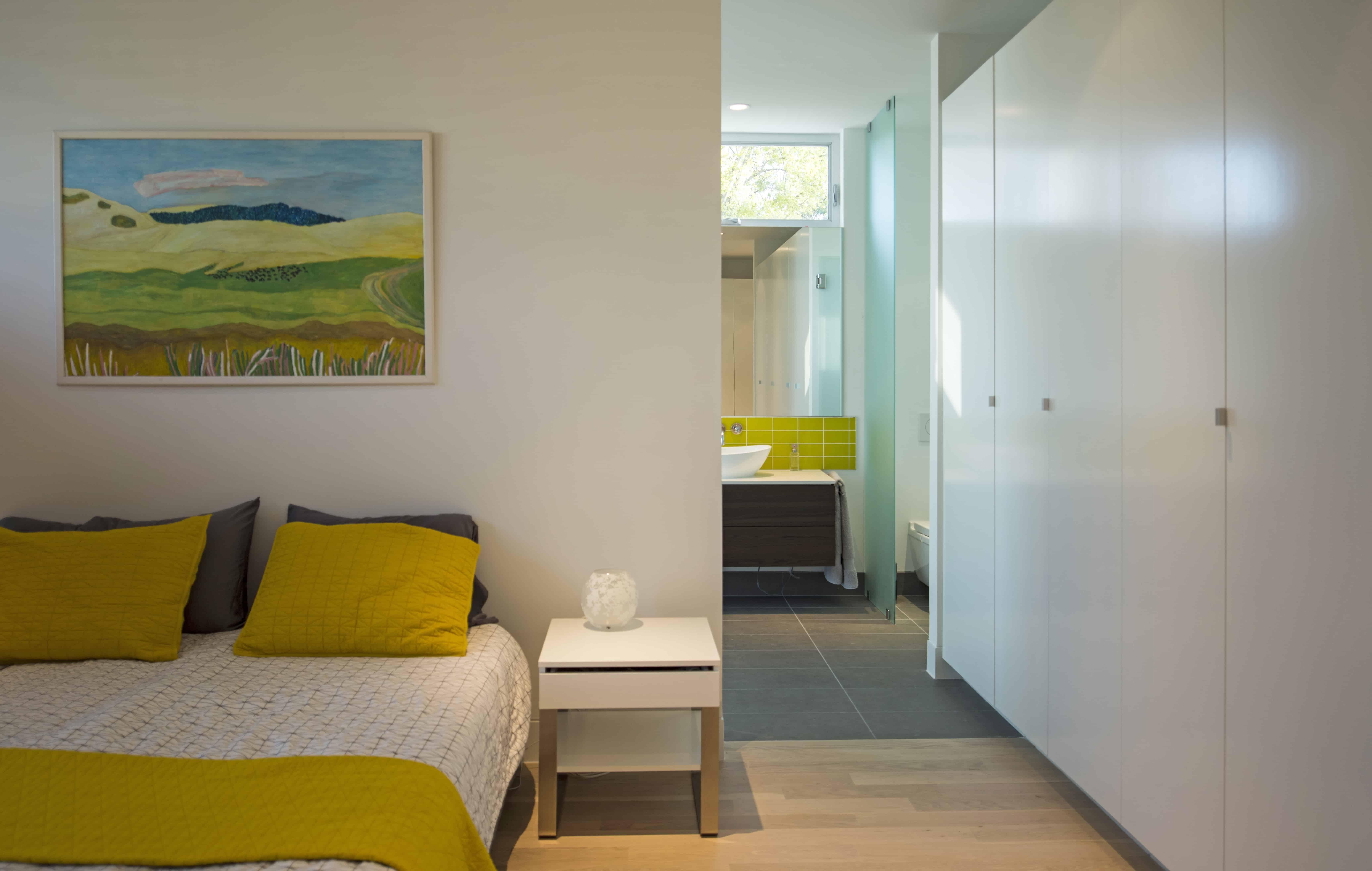 Modern home master bedroom yellow