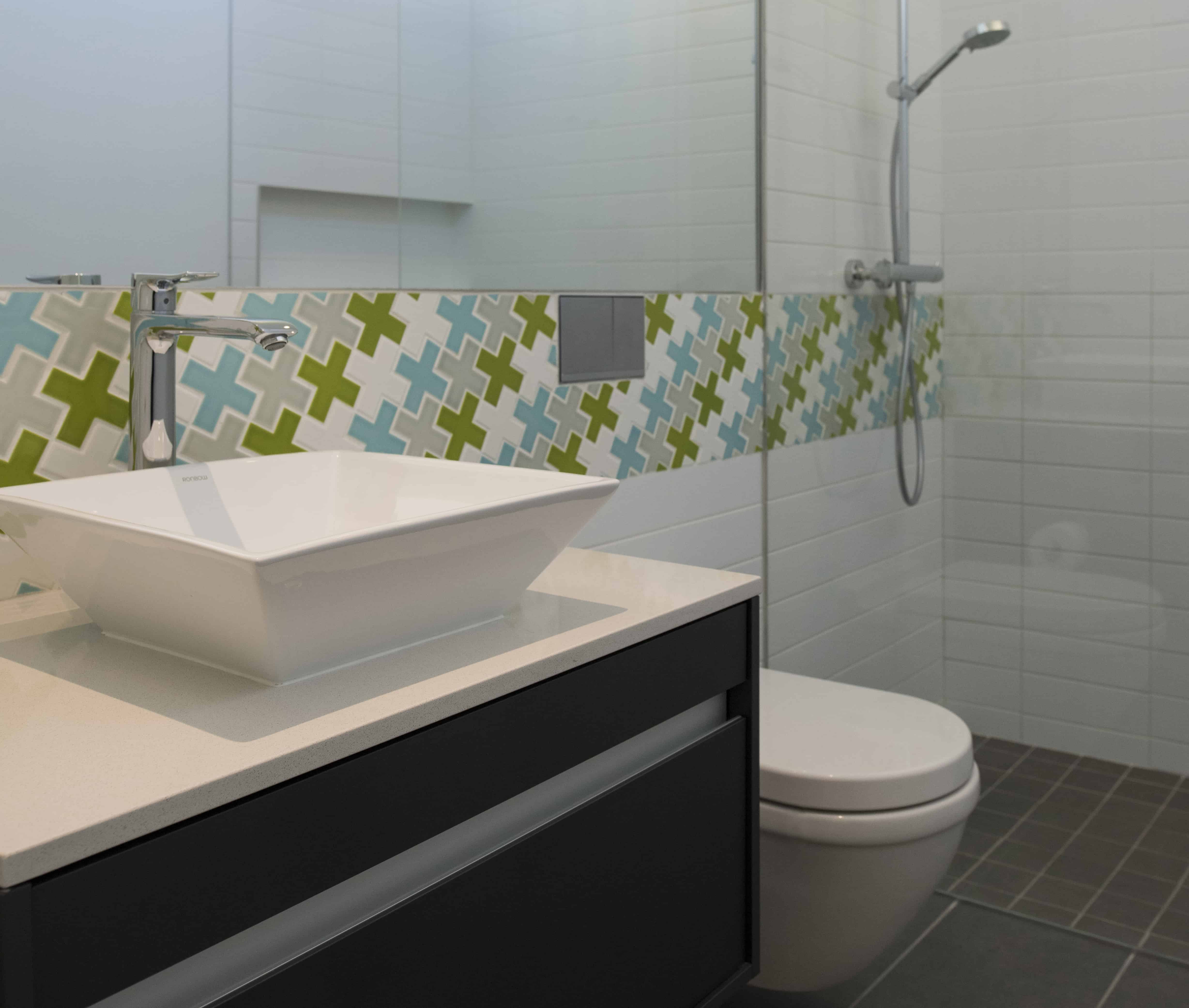 houston modern bath with plus tile and duravit