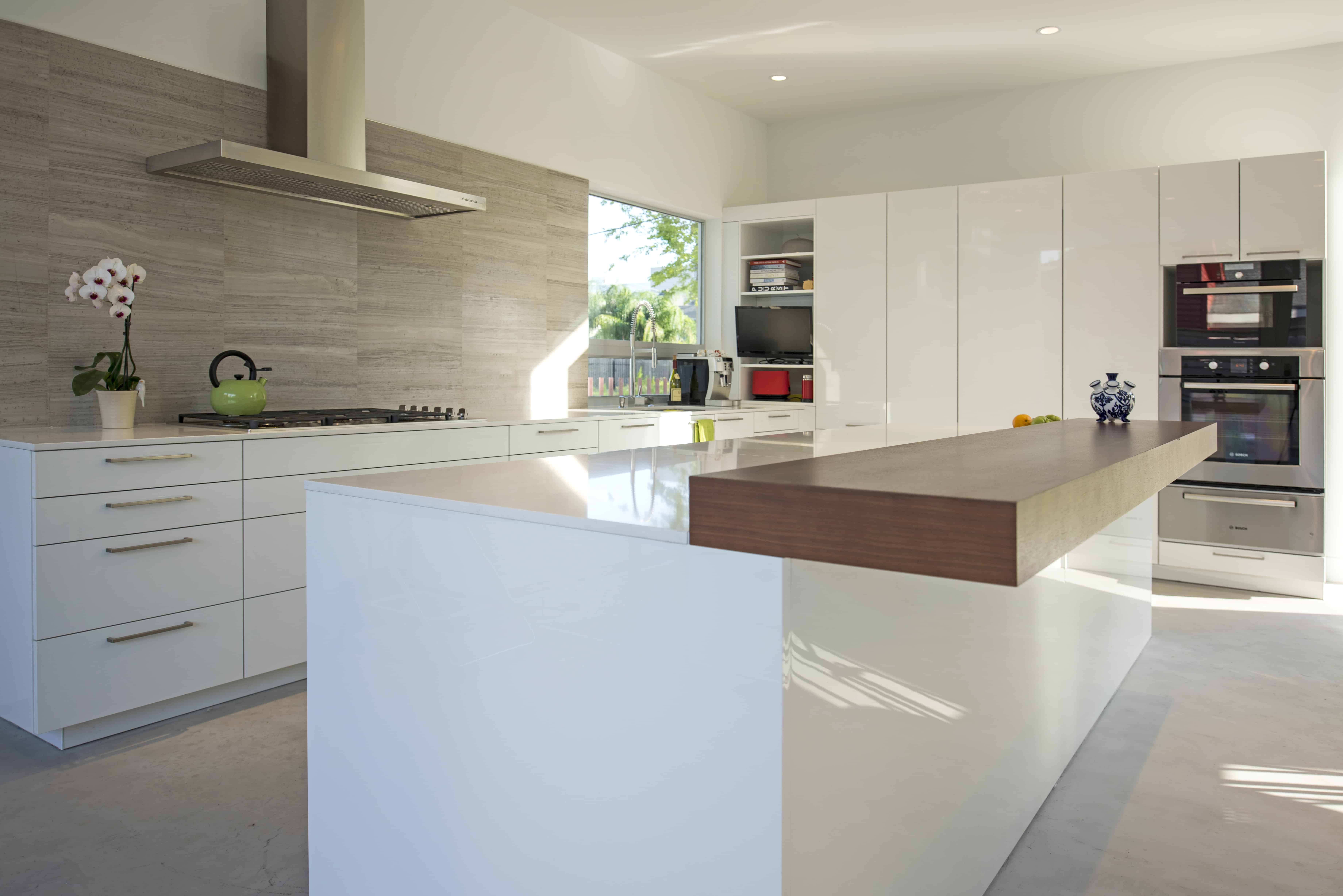 modern home white and wood kitchen