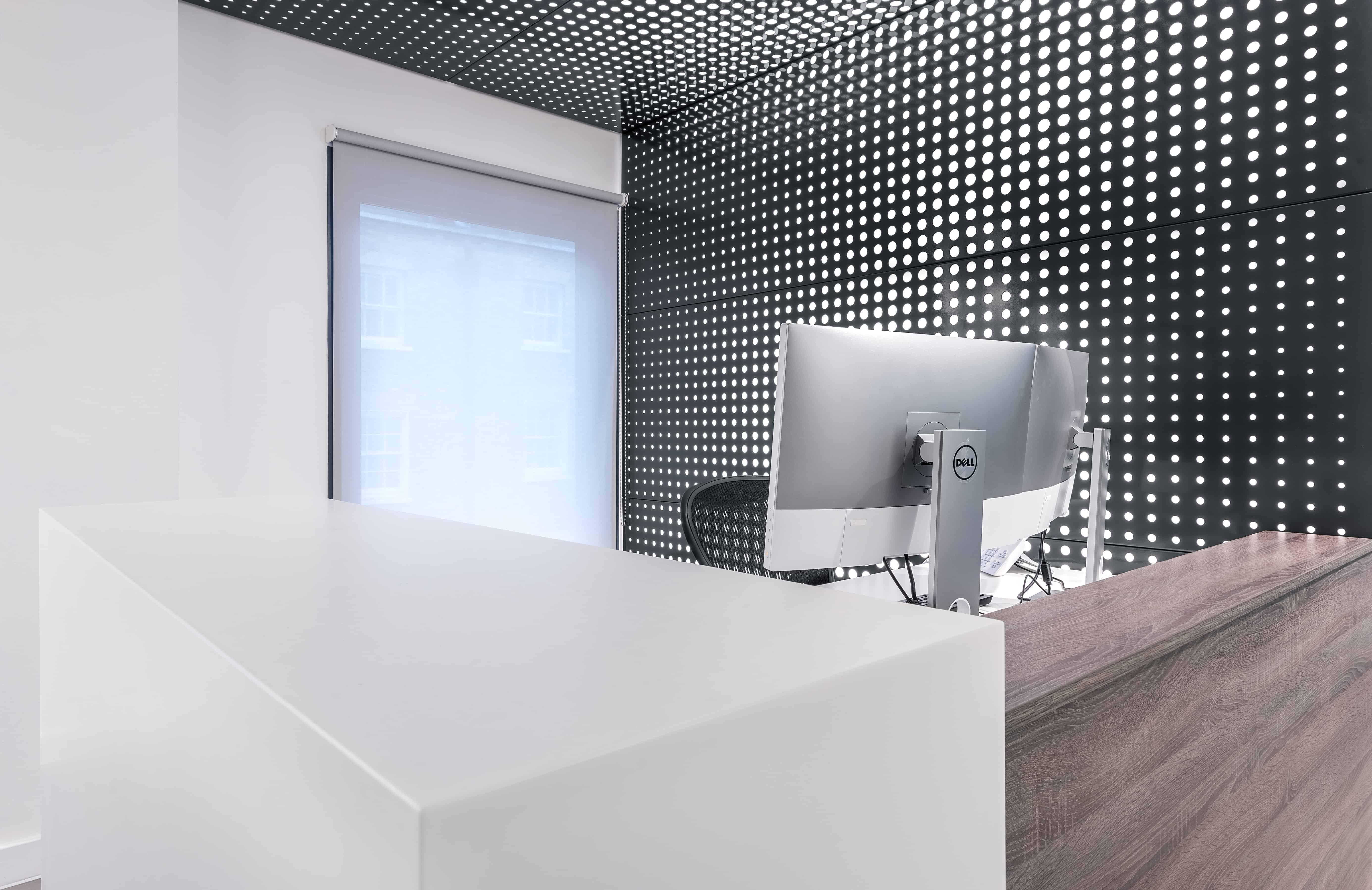 modern steel backlit panels