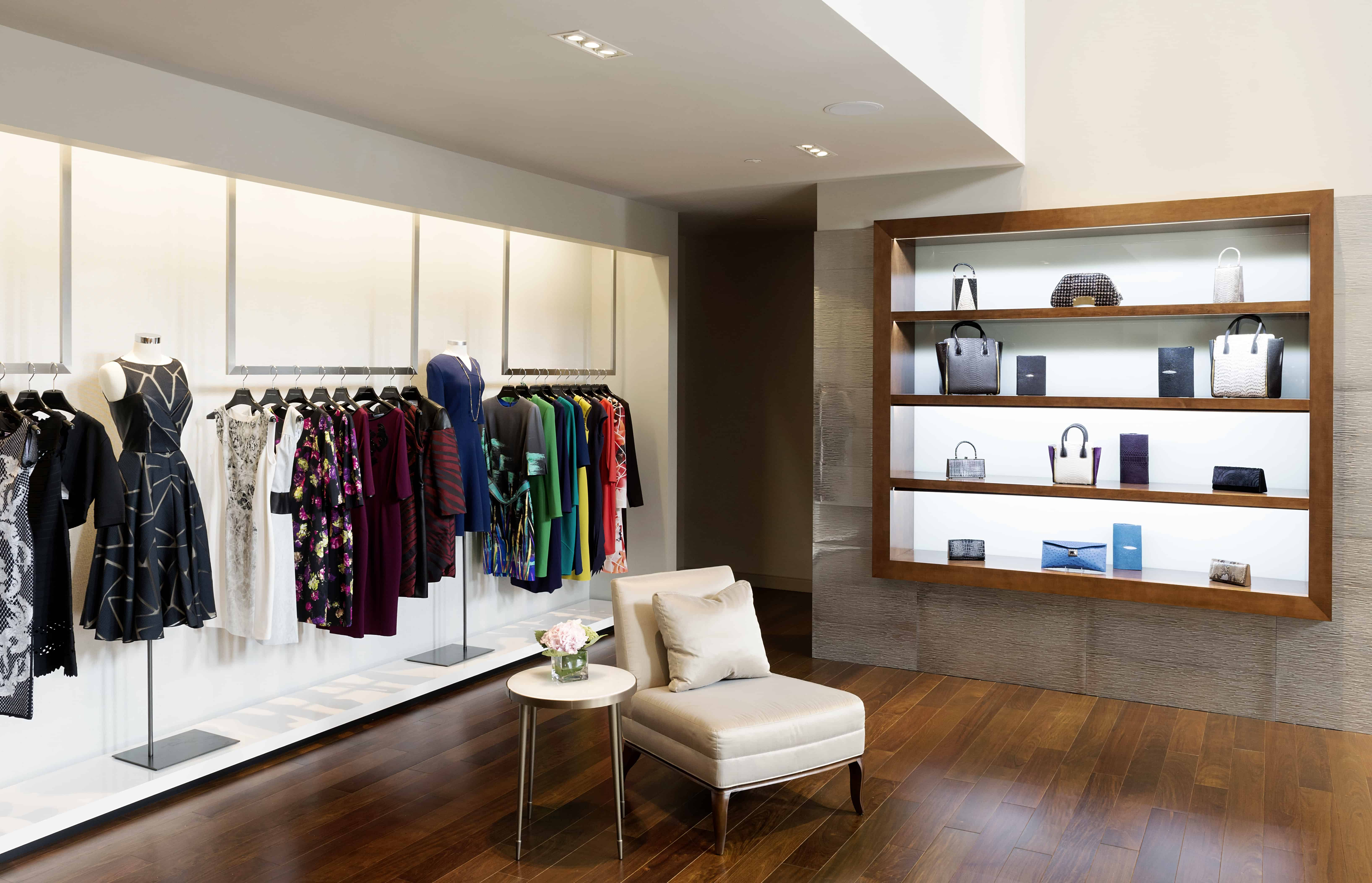 retail design with warm finishes