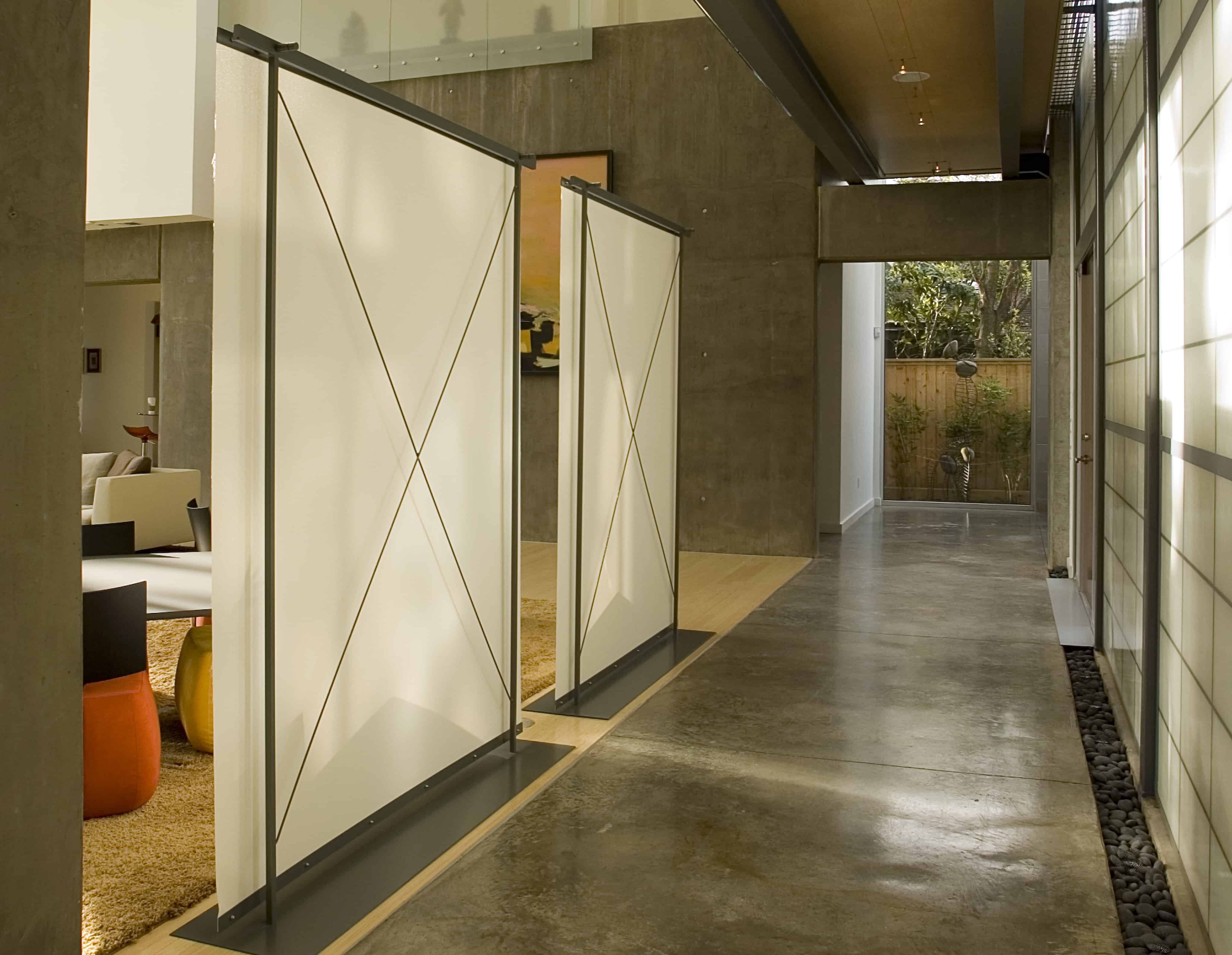 indian modern home cast concrete walls and screens