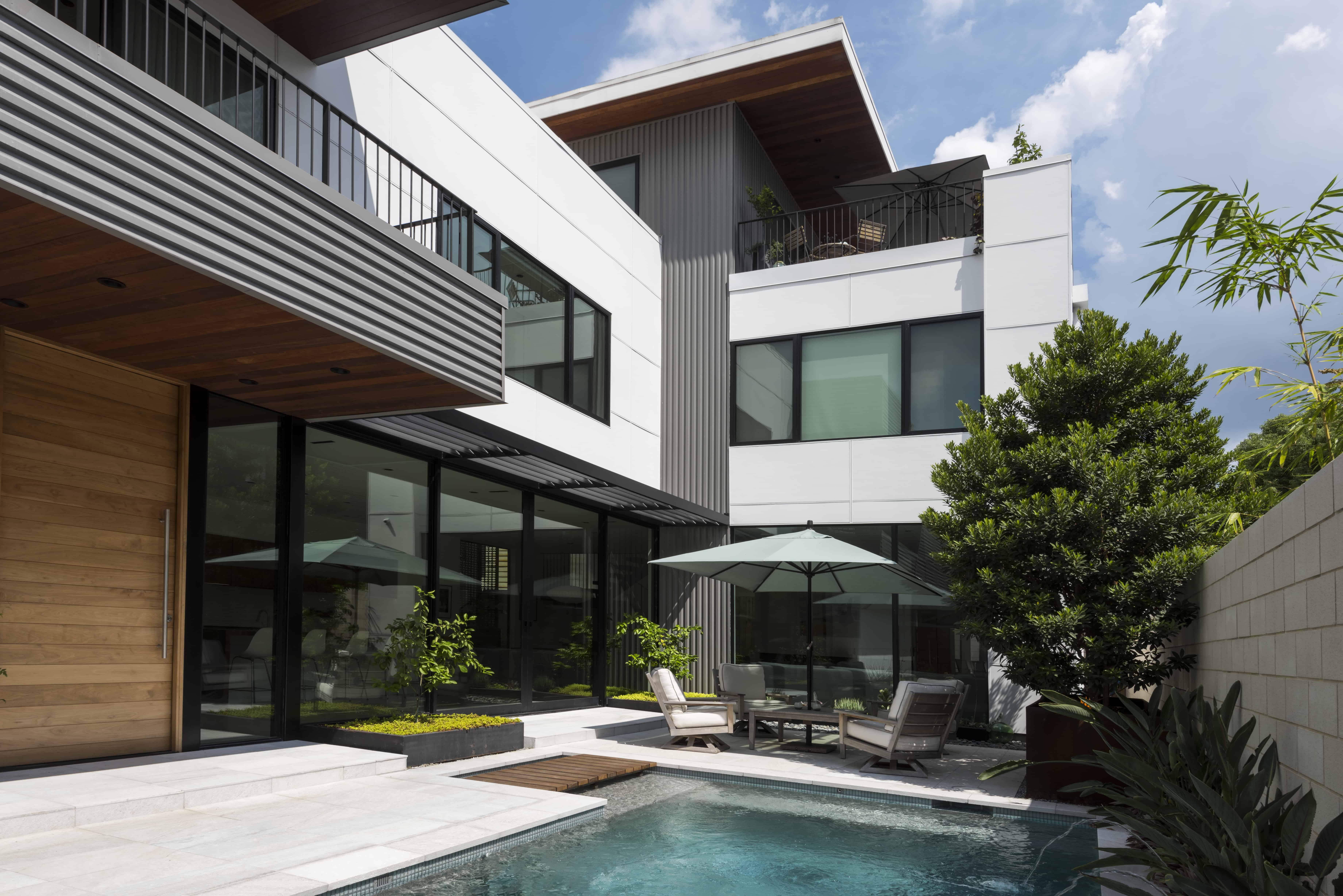 New Mid Century Modern Home Houston
