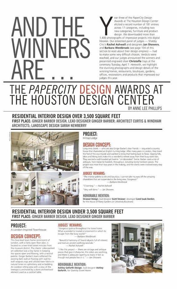 Papercity Design Award Intexure
